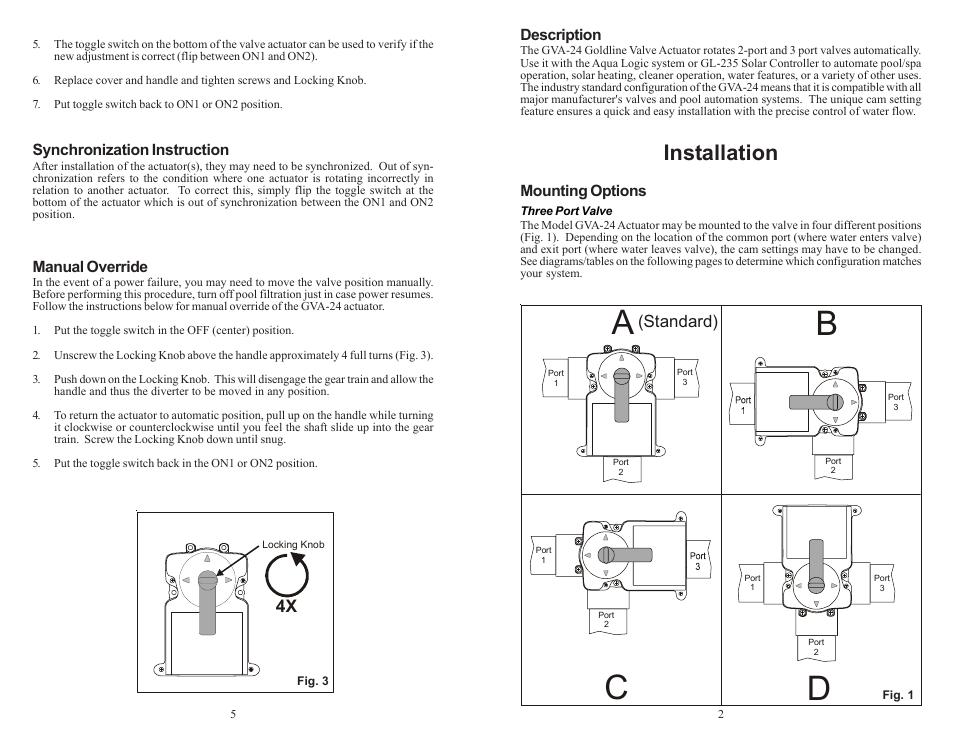 Ac B D  Installation  Standard