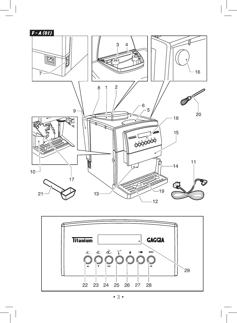 gaggia titanium user manual page 3 132 original mode rh manualsdir com gaggia titanium manual ventilate gaggia titanium user manual pdf