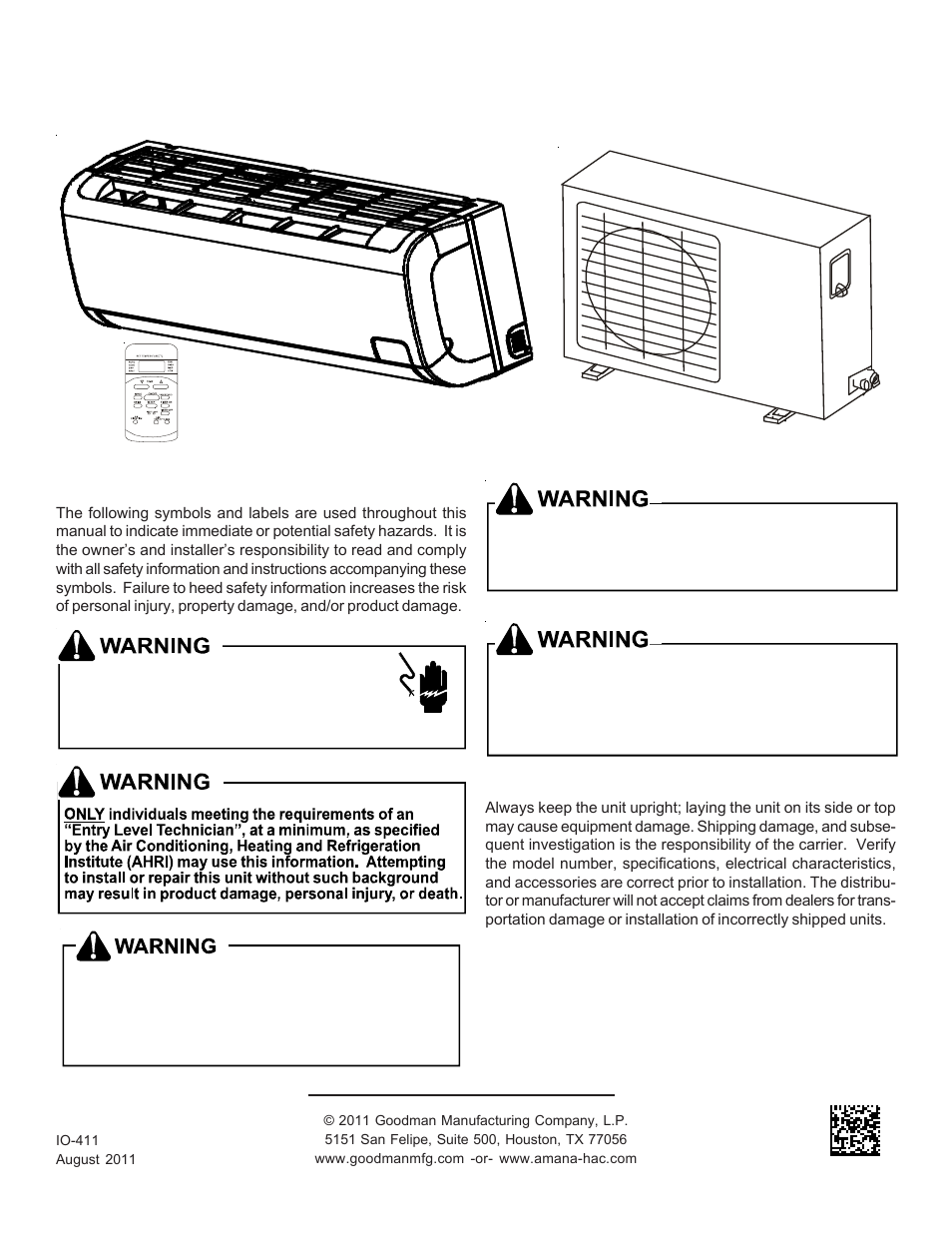goodman mfg split type room air conditioner and heat pump 000 12 rh manualsdir com Goodman Heat Pump Schematic Diagram Goodman Heat Pump Model Numbers