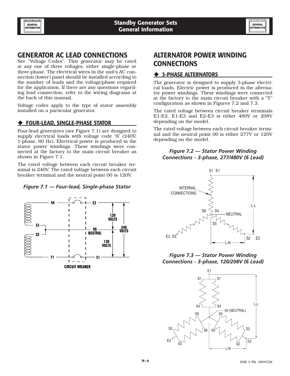 Generator Ac Lead Connections  Alternator Power Winding