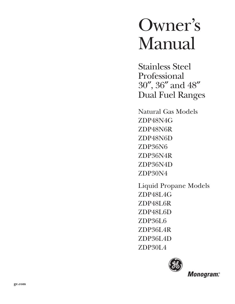 Ge Monogram U00ae Free Manual Guide