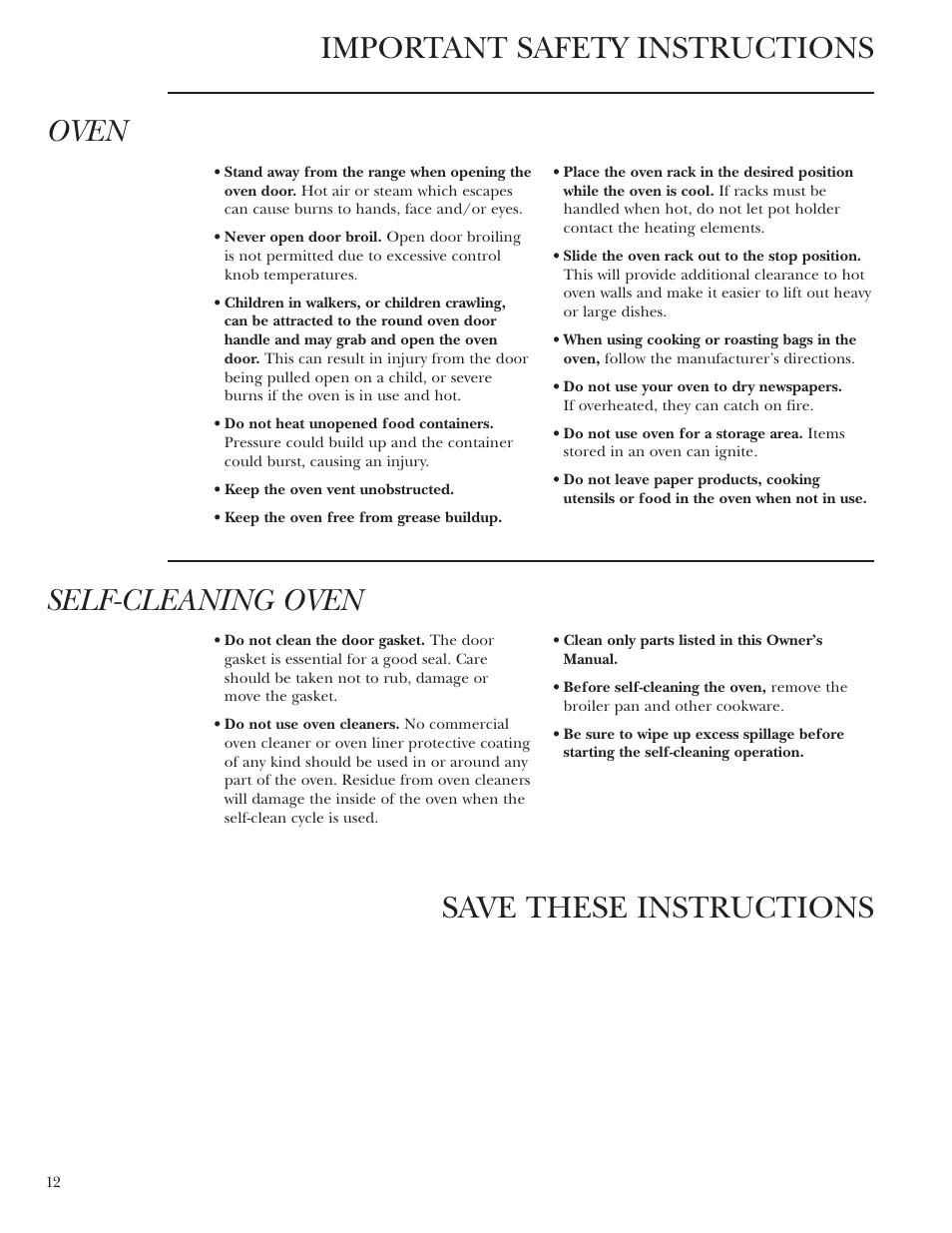 Self Cleaning Oven Ge Monogram Zdp36n4r User Manual Page 12 44