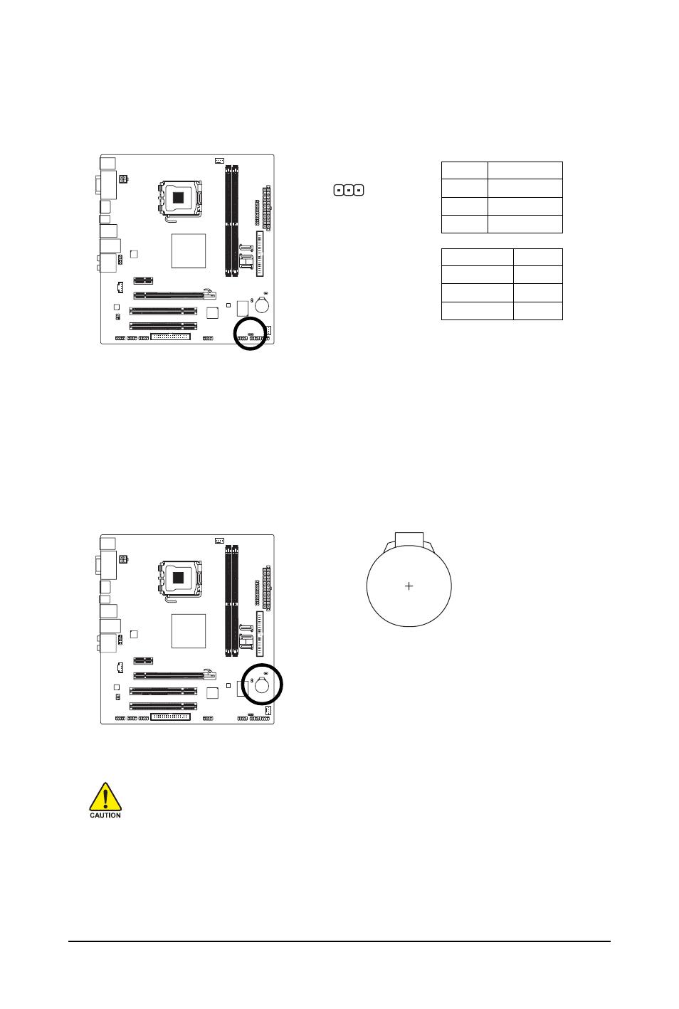 8) pwr_led (system power led header), 9) battery | GIGABYTE LGA775