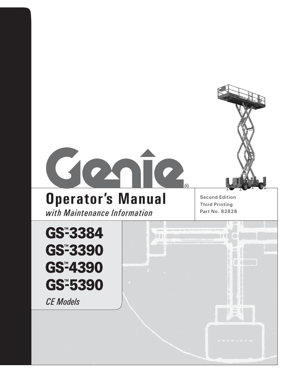 genie gs 5390 user manual 36 pages also for gs 3390 gs 4390 rh manualsdir com Genie Pro Screw Drive Manual Genie Service Manual