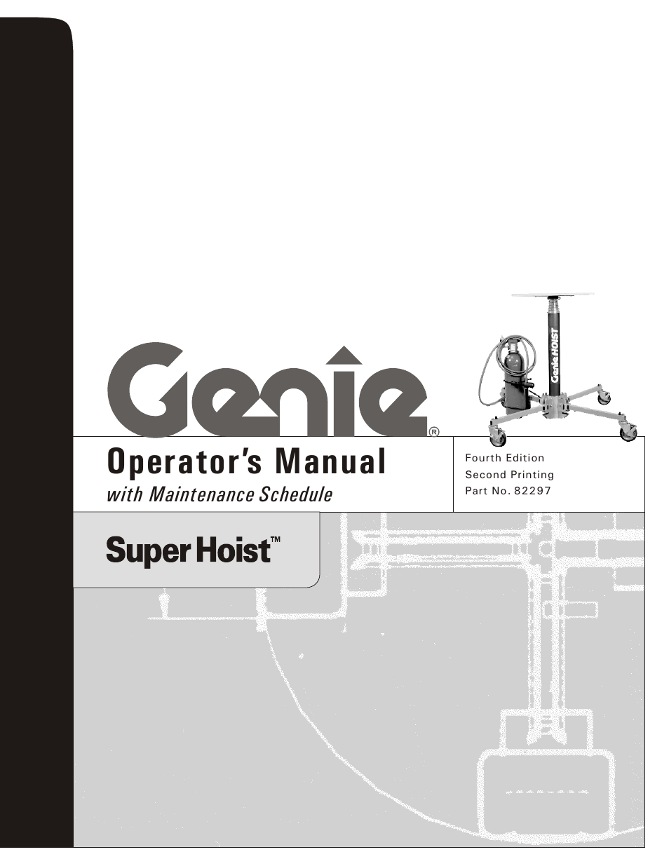 Genie SUPER HOIST 82297 User Manual | 16 pages