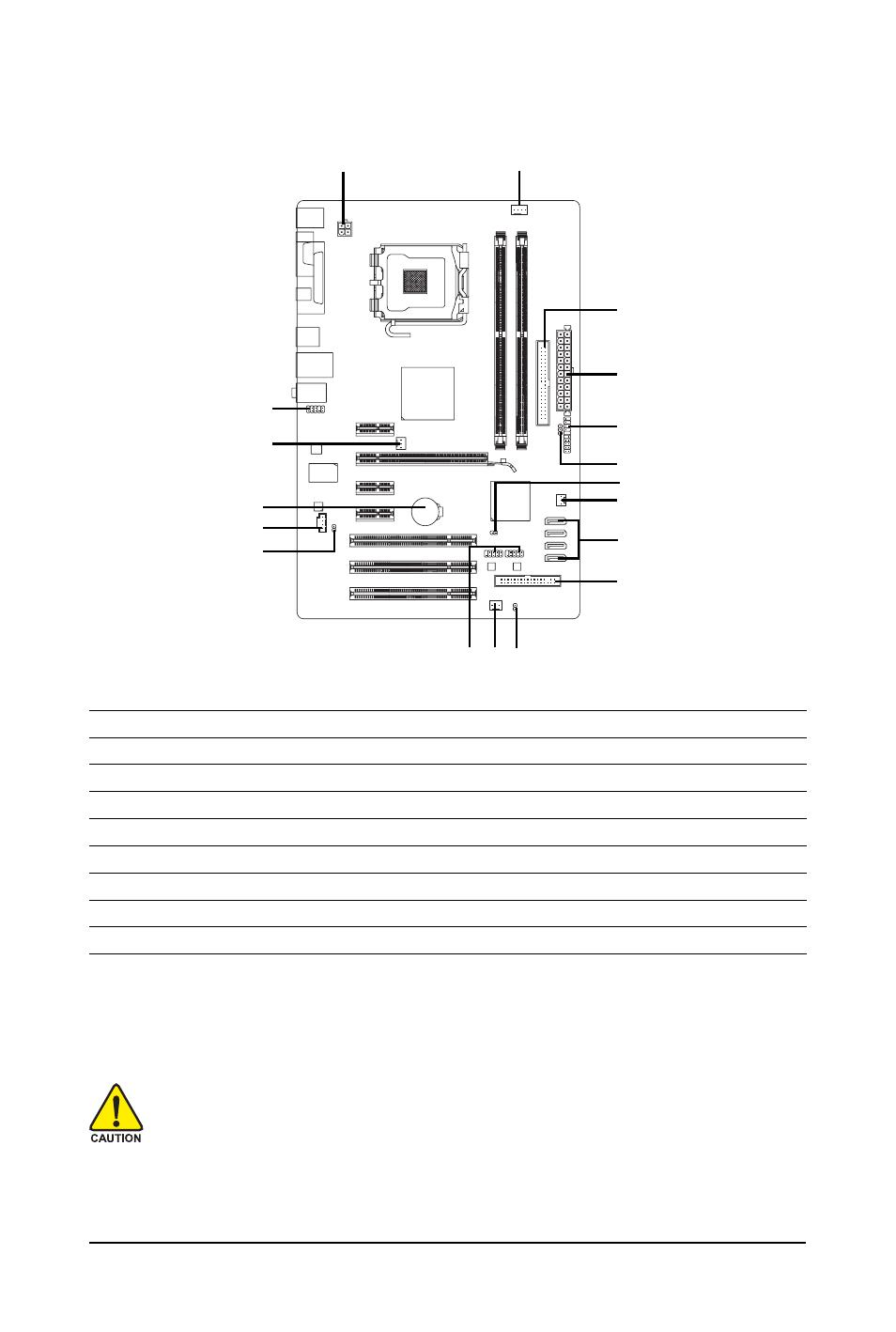 7 internal connectors | GIGABYTE GA-P31-ES3G User Manual | Page 21 /