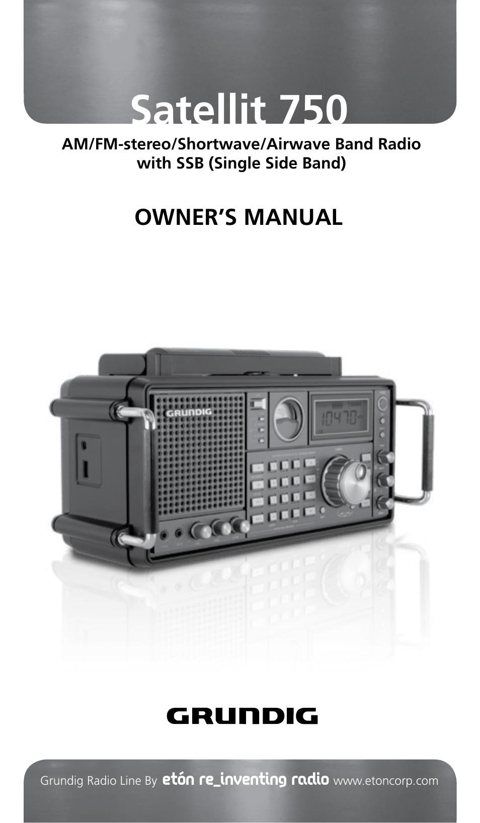 eton grundig edition satellit manual