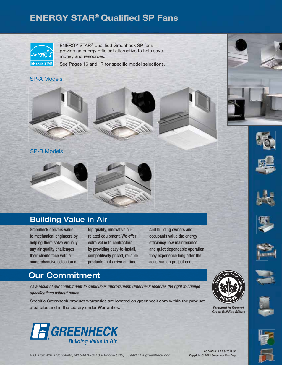 Energy star qualified sp fans building value in air greenheck energy star qualified sp fans building value in air greenheck fan centrifugal ceiling and cabinet exhaust fans csp user manual page 24 24 aloadofball Choice Image