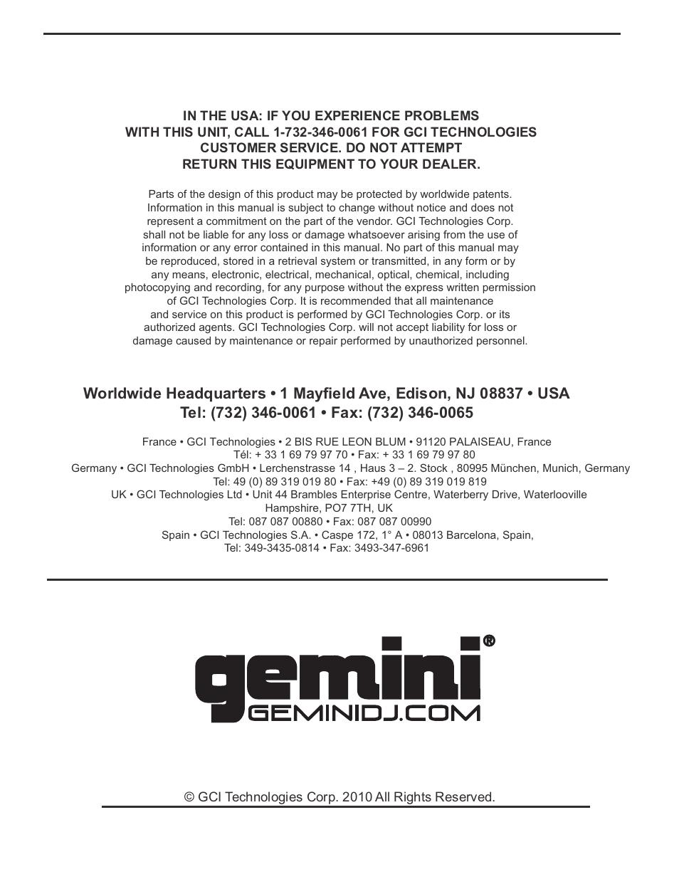 Gemini cdm-3610 (cdm3610) dj mp3/cd lcd display mixer & 3 band eq.