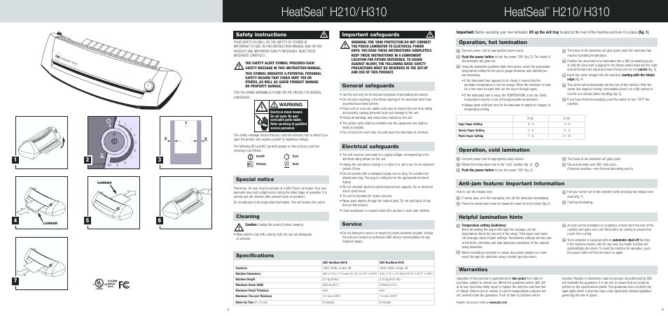 Gbc heatseal h310 pouch laminator 1702580.