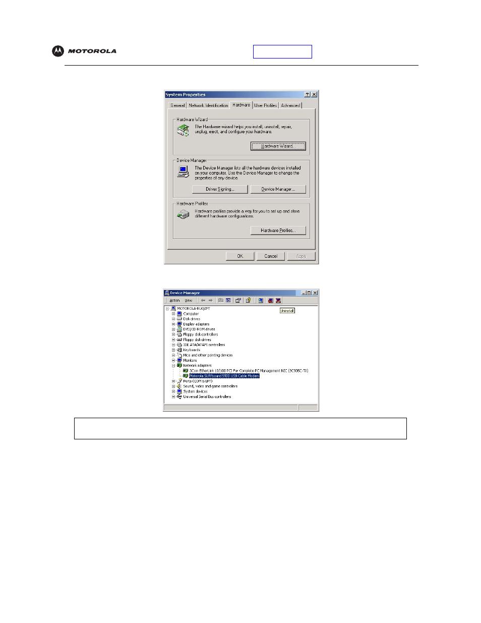 Motorola sbv5121 manuals.