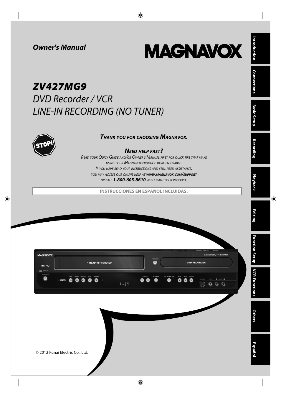 philips magnavox zv427mg9 user manual 98 pages rh manualsdir com magnavox zv427mg9 service manual magnavox zv427mg9a service manual