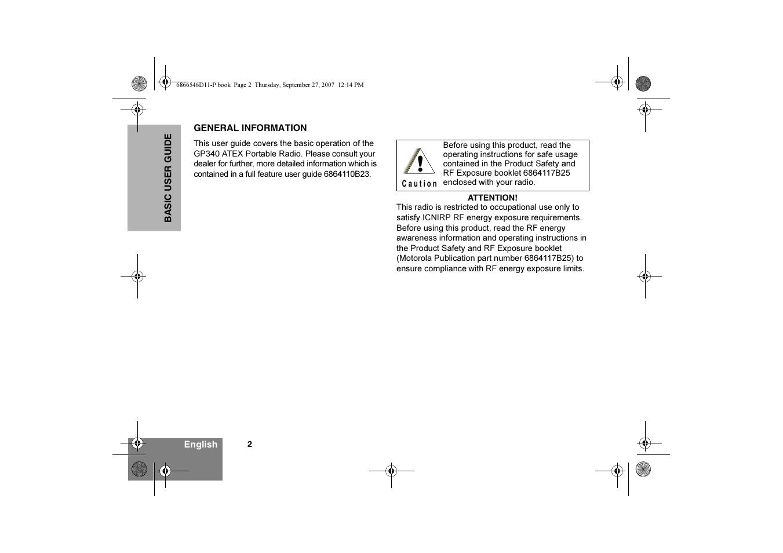 general information motorola gp340 ex user manual page 4 18 rh manualsdir com Big Easy Instruction Manual Instruction Manual Kestrel U281