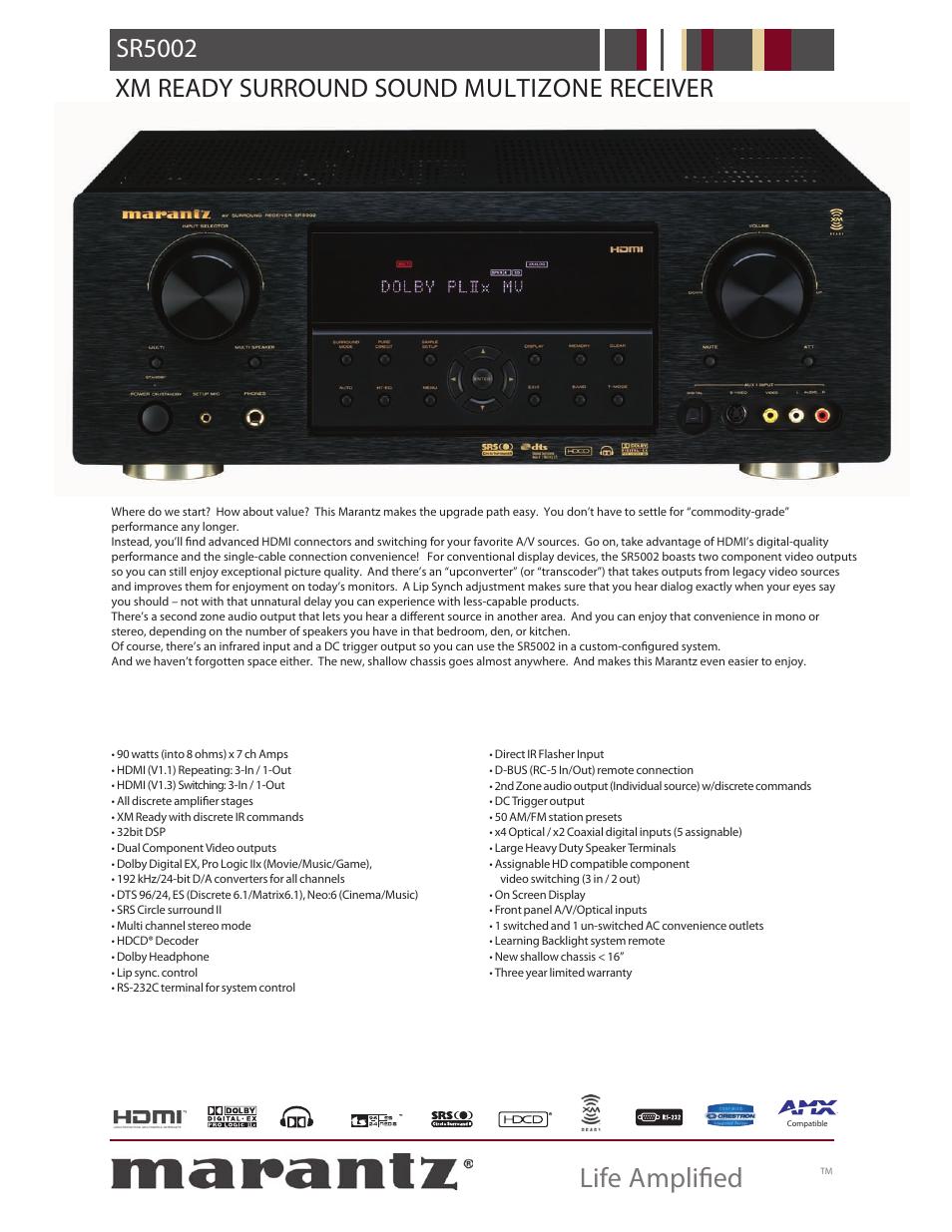 marantz sr5002 user manual 2 pages rh manualsdir com Marantz SR5002 Receiver marantz sr5002 manual pdf