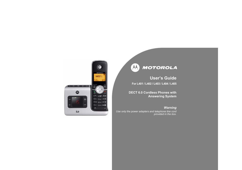 motorola l404 user manual 51 pages rh manualsdir com Motorola L403 Manual L403 325Mg
