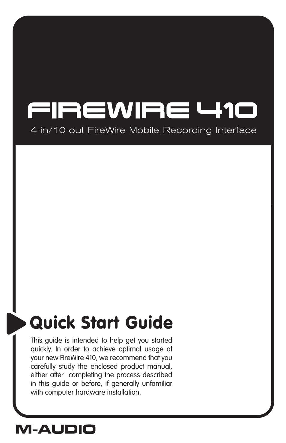 m audio firewire 410 user manual 19 pages. Black Bedroom Furniture Sets. Home Design Ideas