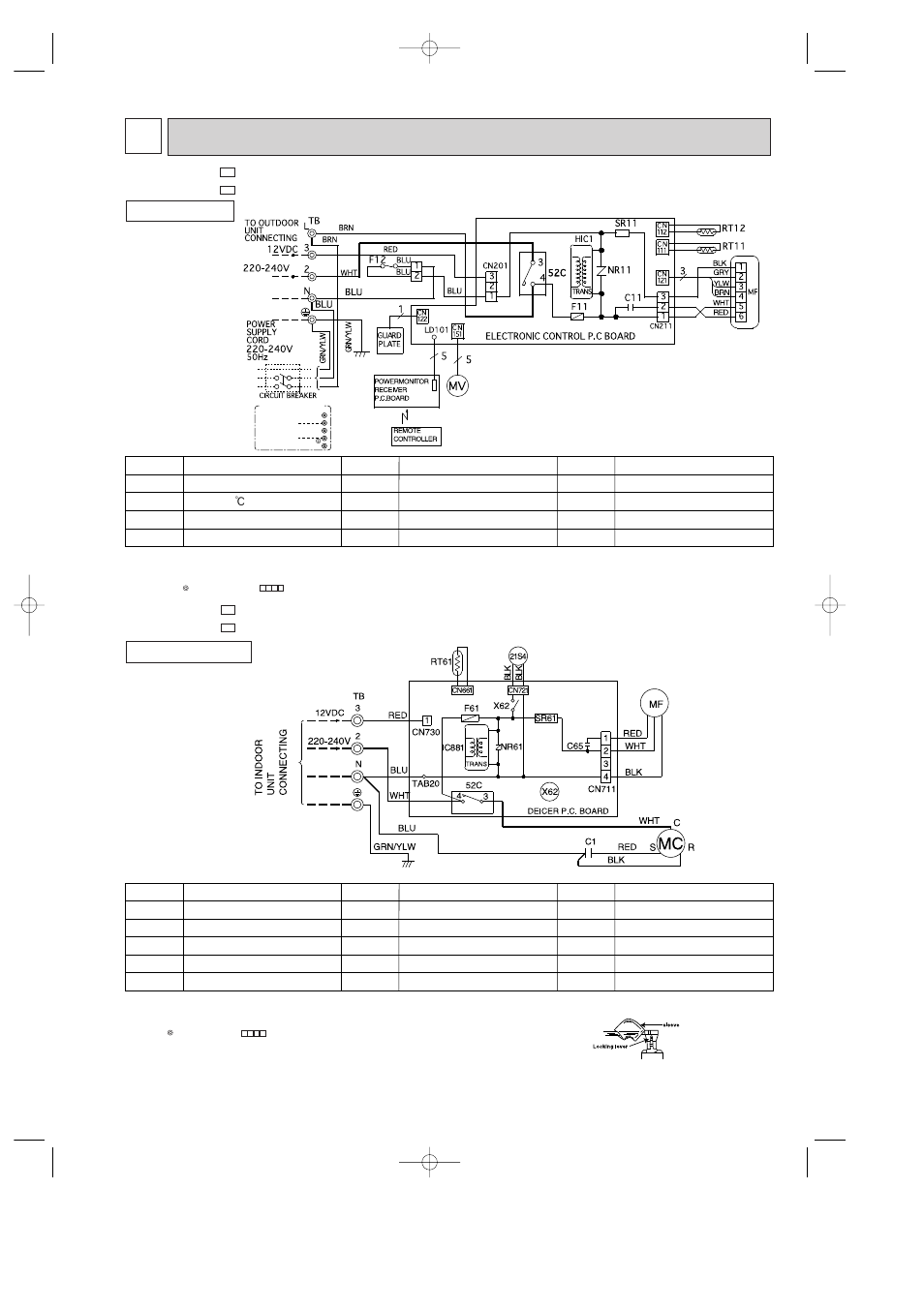 Wiring diagram 5, Msh-07nv - msh-09nv, Models wiring diagram muh-07nv -  muh-09nv | MITSUBISHI ELECTRIC MSH-07NV User Manual | Page 15 / 80