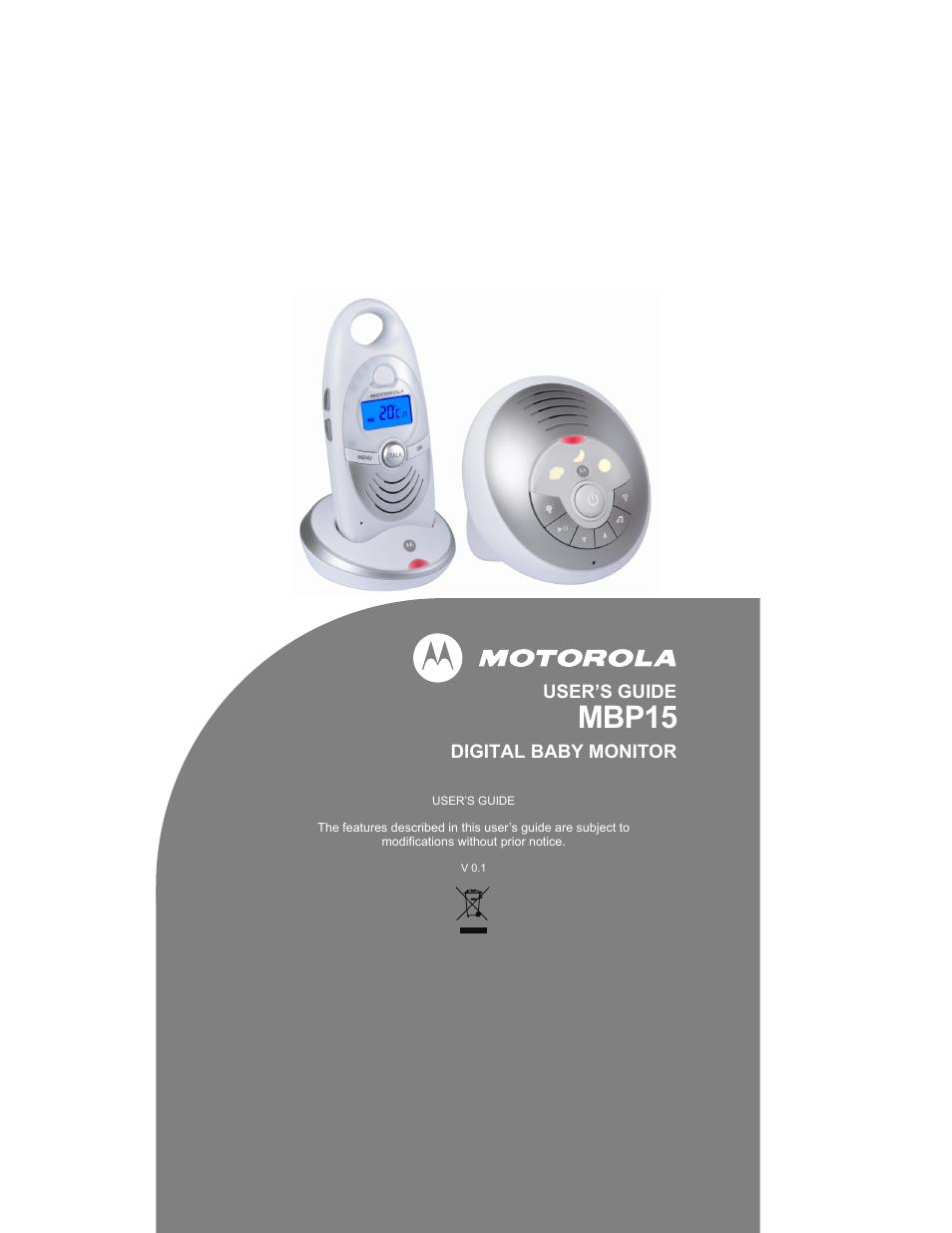 motorola mbp15 user manual 32 pages. Black Bedroom Furniture Sets. Home Design Ideas