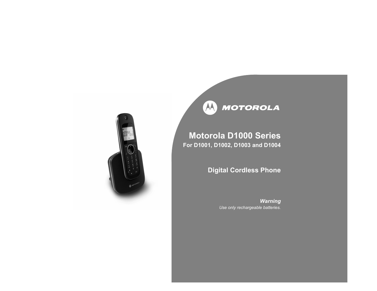 motorola digital cordless phone d1004 user manual 45 pages also rh manualsdir com Garmin GPS Manual Motorola Baby Monitor