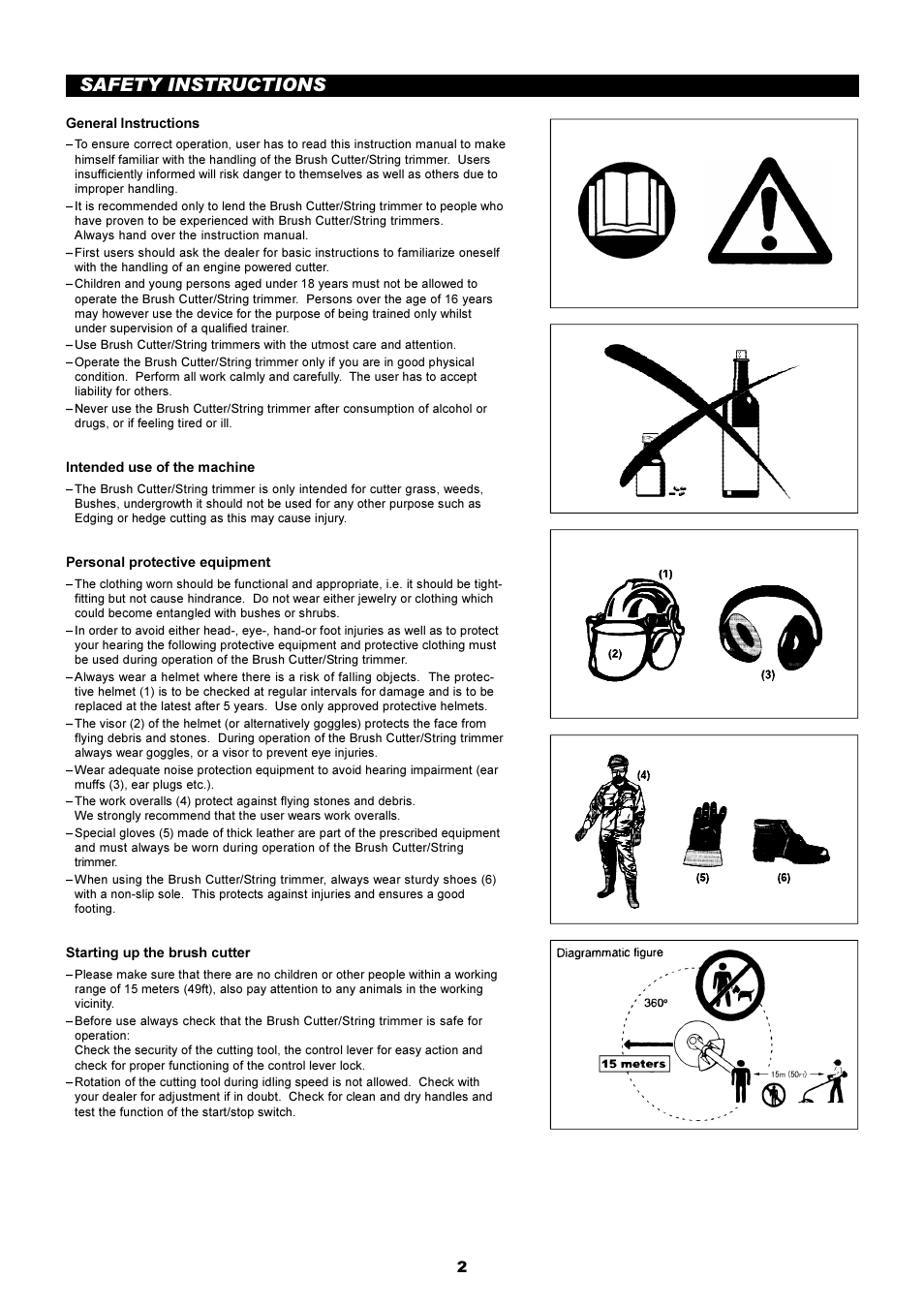 Safety instructions | Makita RBC2510 User Manual | Page 3