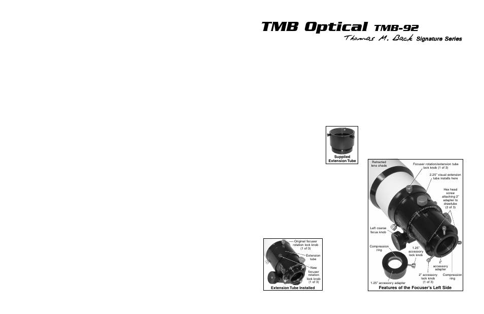 Meade Instruments TMB-92 User Manual | 2 pages