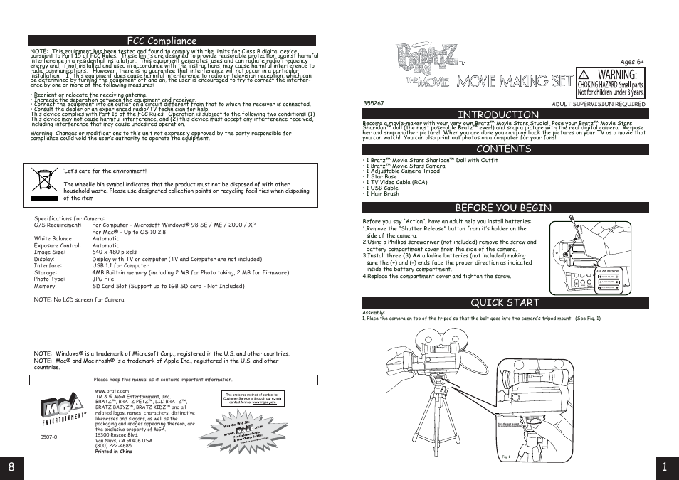 mga entertainment bratz lr06 user manual 4 pages rh manualsdir com