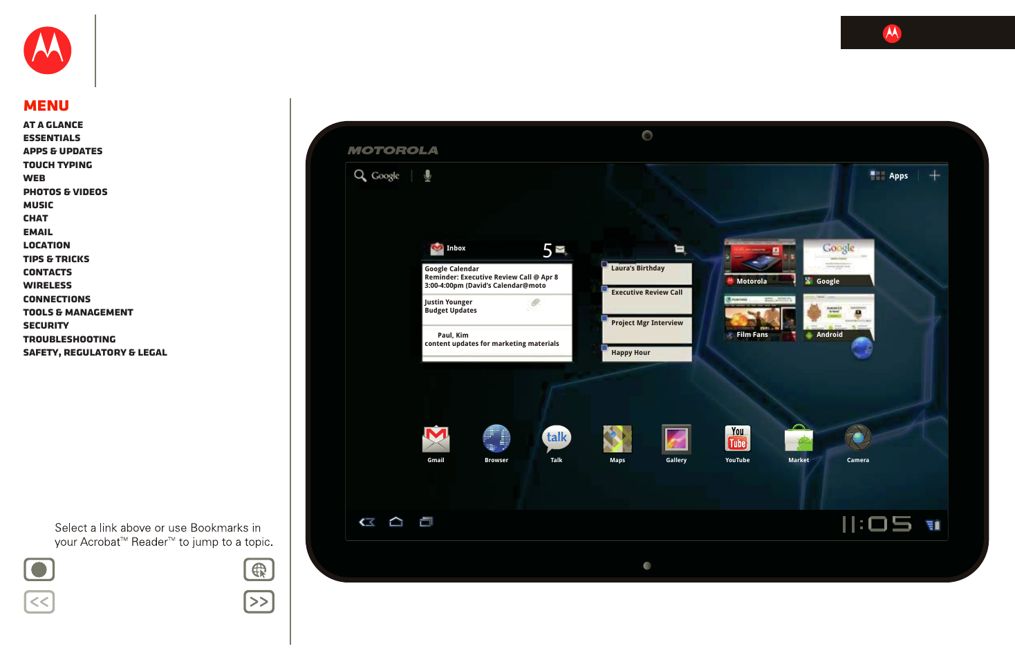 motorola xoom user manual 57 pages rh manualsdir com Motorola Xoom Tablet to USB Cable Motorola Xoom Tablet Accessories