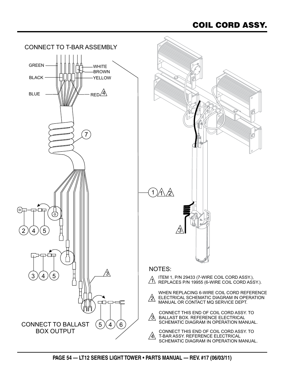 Wiring Schematic Nighthawk Light Tower Explained Diagrams Diagram Coil Cord Assy Multiquip Series Dedicated Truck