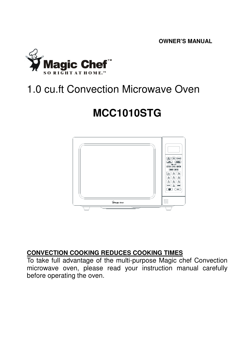 Magic Chef Mcc1010stg User Manual 21 Pages