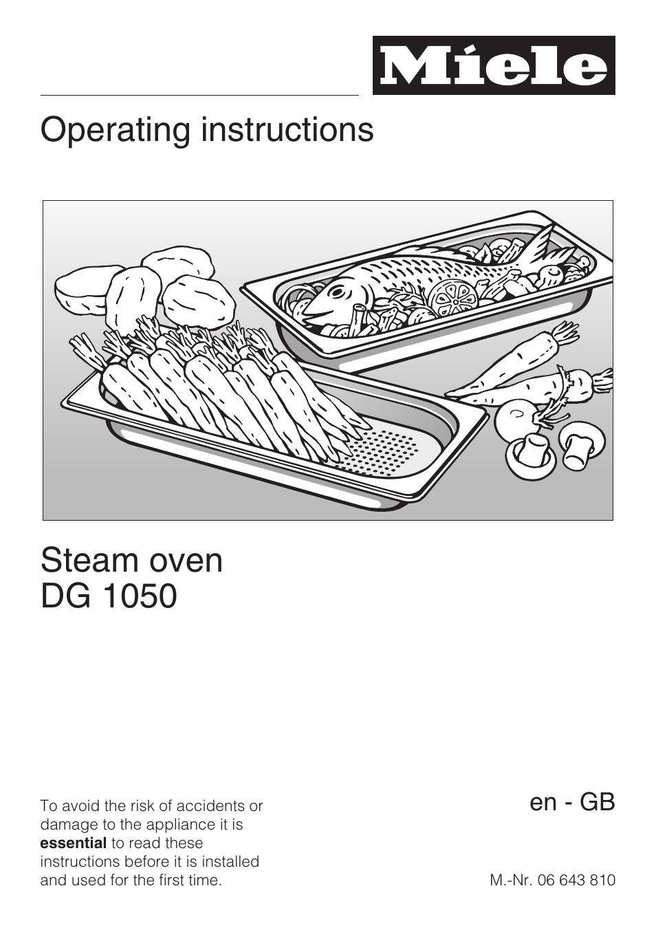 Miele Dg 1050 User Manual 52 Pages