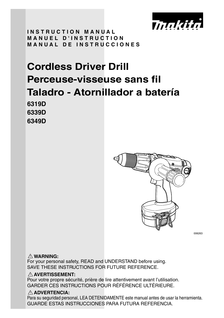 Makita 6339D User Manual | 32 pages | Also for: 6349D