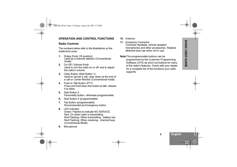 Motorola GP640 User Manual   Page 5 / 14