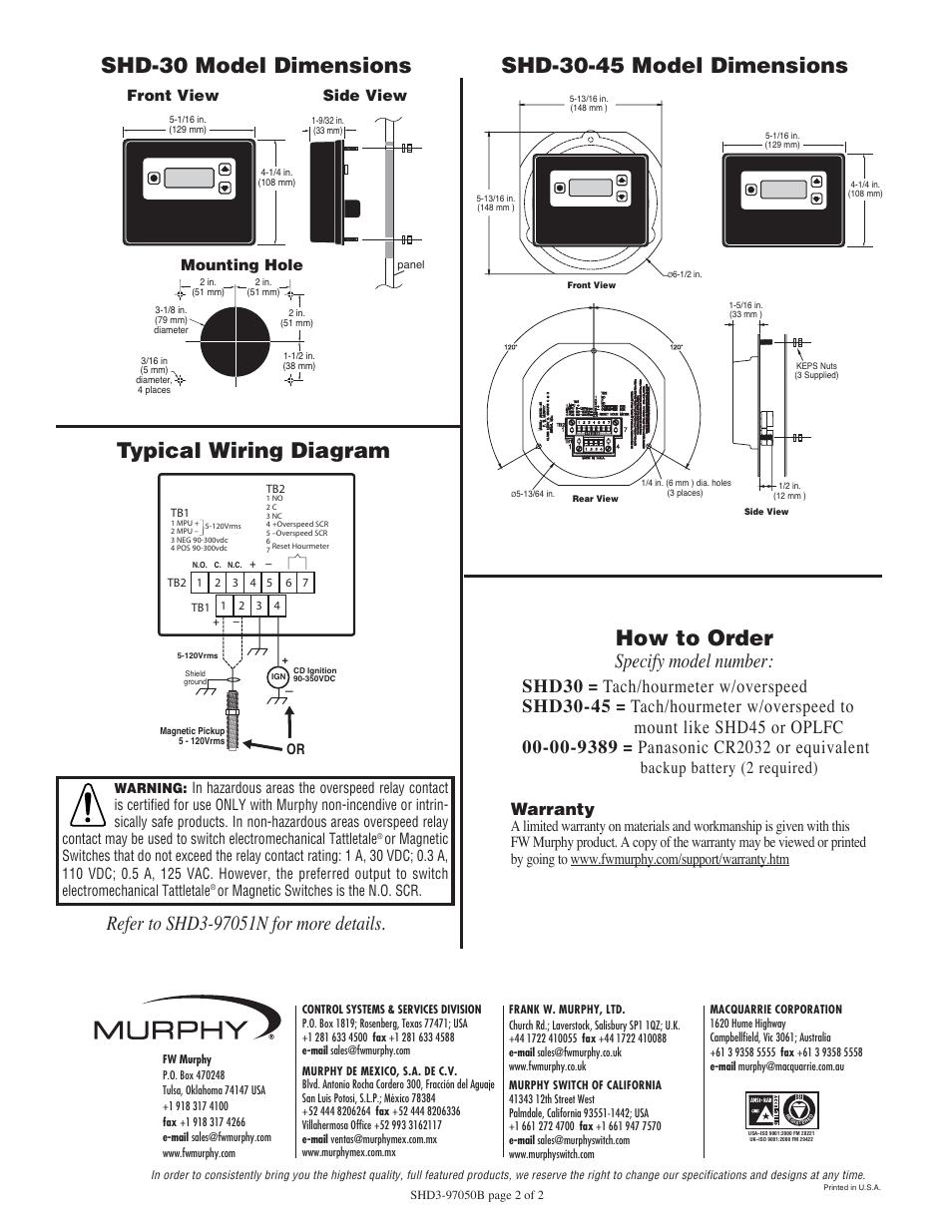 Typical Wiring Diagram Shd
