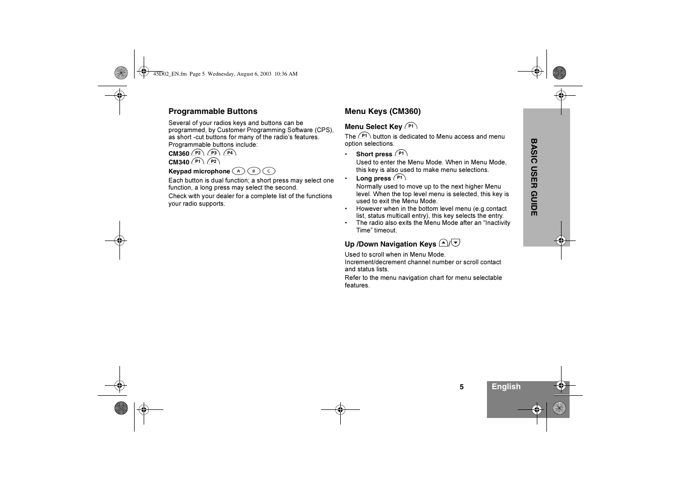 Motorola CM340 User Manual   Page 7 / 184   Also for: CM360