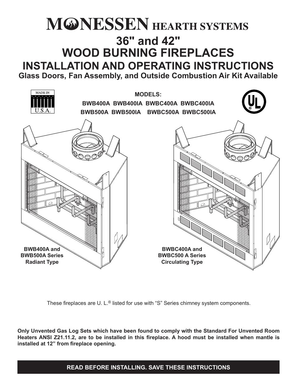 Wood Burning Fireplaces Manual Guide