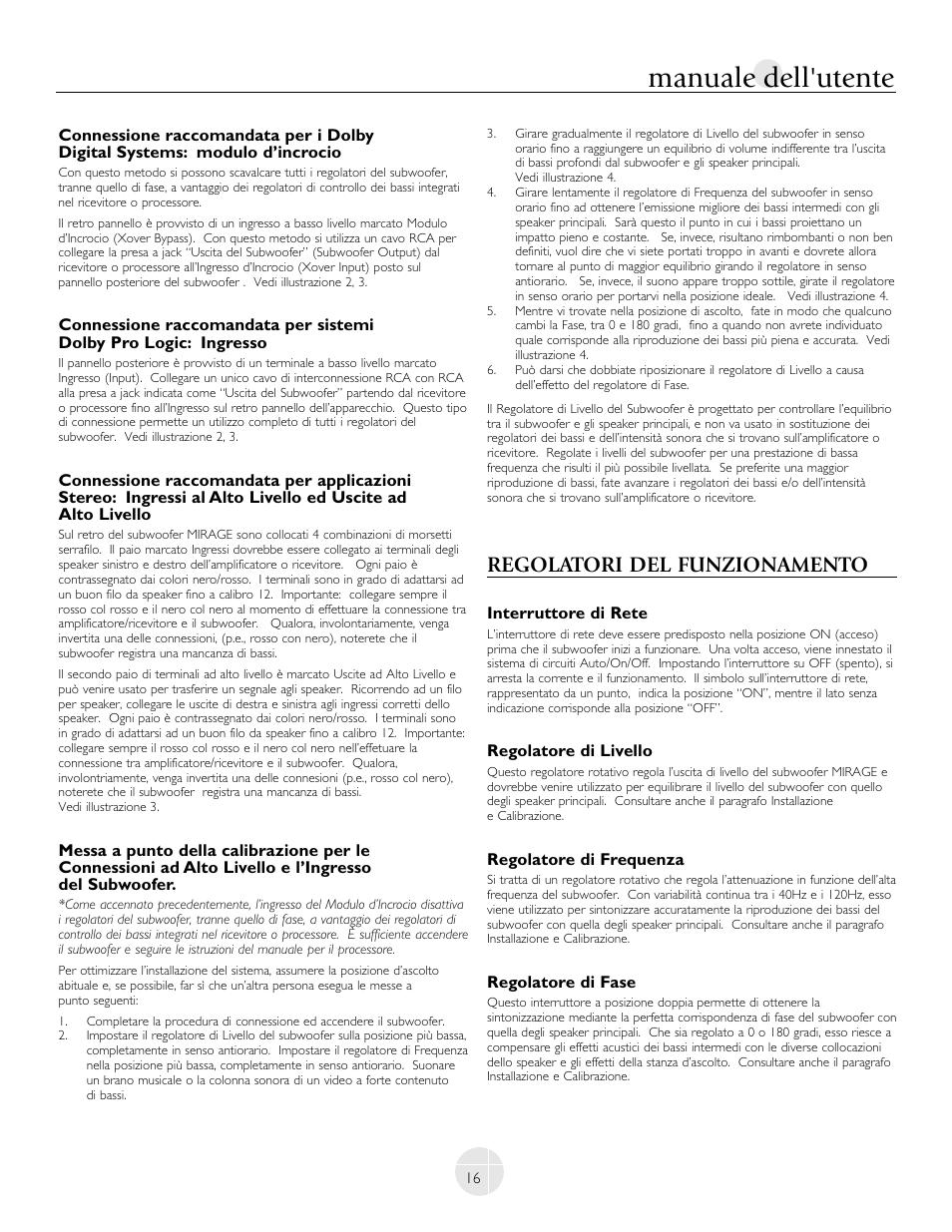 manuale dell utente regolatori del funzionamento mirage rh manualsdir com