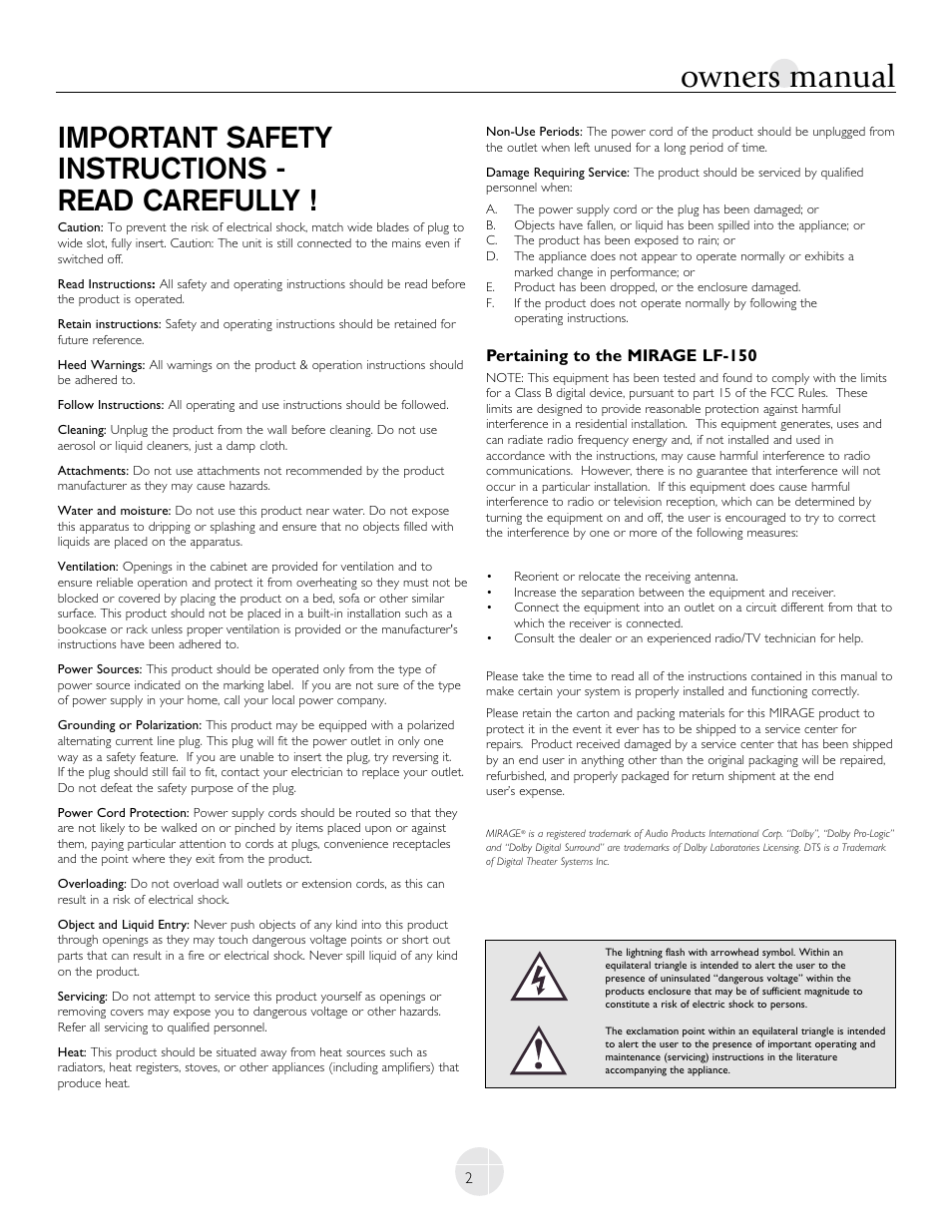 owners manual important safety instructions read carefully rh manualsdir com