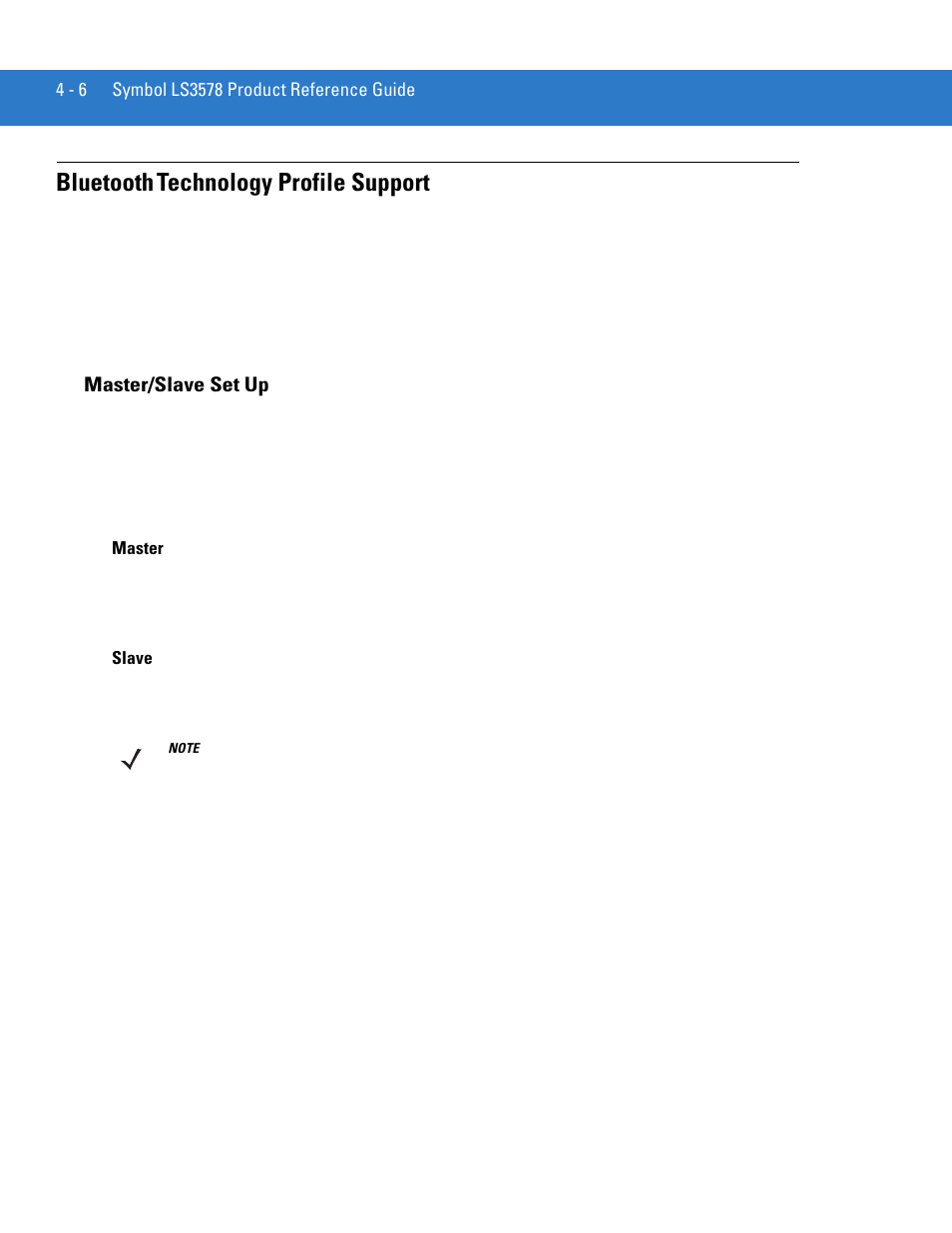 Bluetooth Technology Profile Support Masterslave Set Up Bluetooth