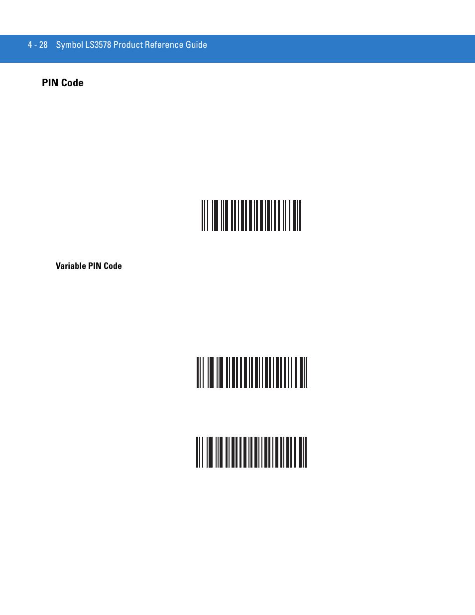Pin Code Pin Code 28 Motorola Ls3578 User Manual Page 72 378