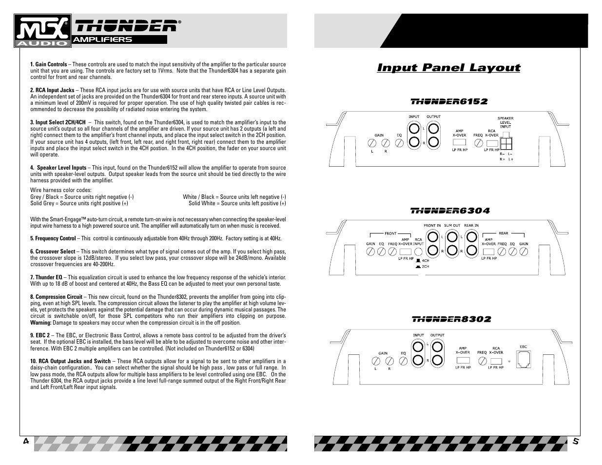 Mtx Audio 8302 User Manual Page 3 19 Also For Thunder 6152 6304 Amp To Stereo Rca Speaker Wiring Harness Factory Line