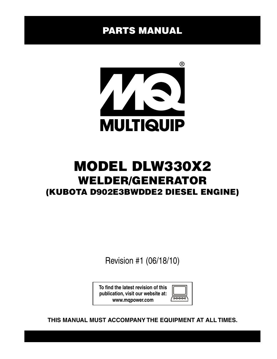 multiquip welder  generator  kubota d902e3bwdde2 diesel