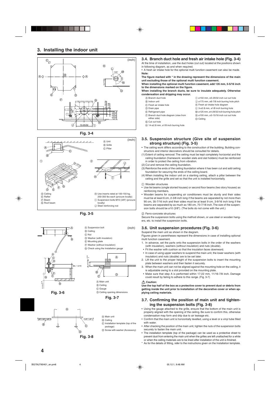 installing the indoor unit unit suspension procedures fig 3 6 rh manualsdir com Mr. Slim Operations Manual Mr. Slim Troubleshooting Manual