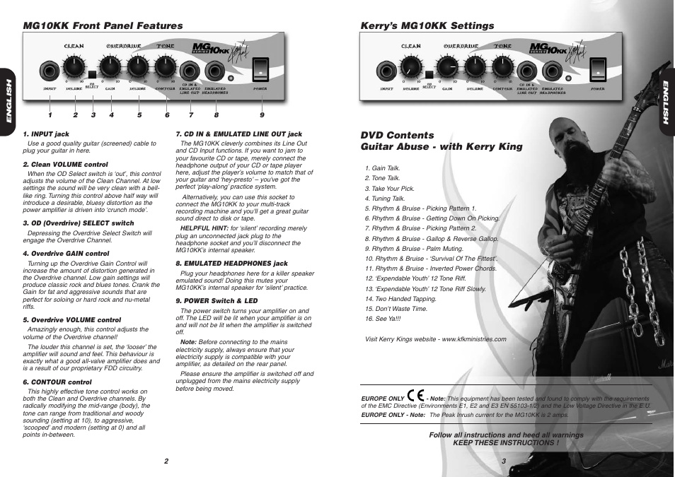Dvd Contents Guitar Abuse With Kerry King Marshall Amplification