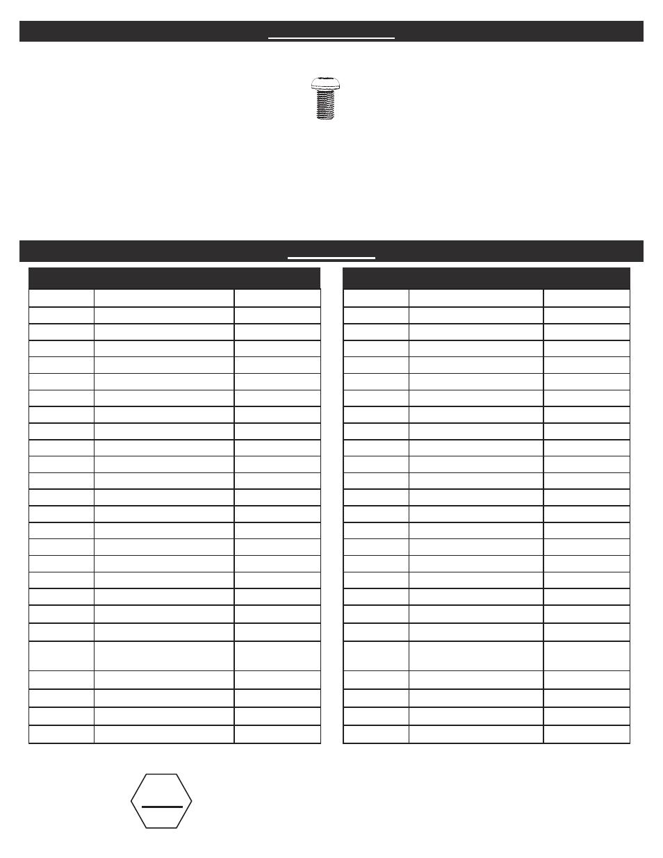 Hardware List Parts List Stop Masterbuilt