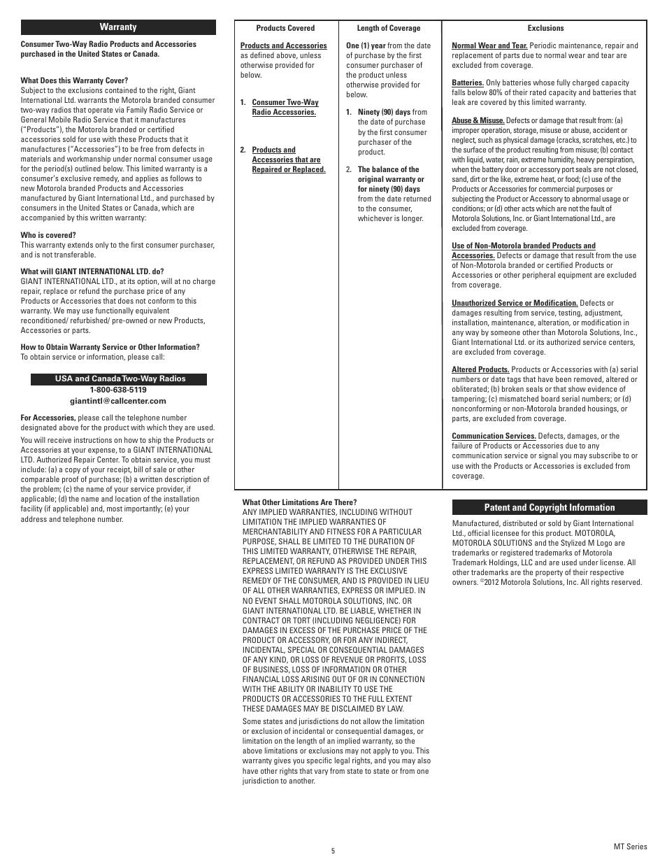 Motorola Kem-ml34301 User Manual | Page 5 / 5
