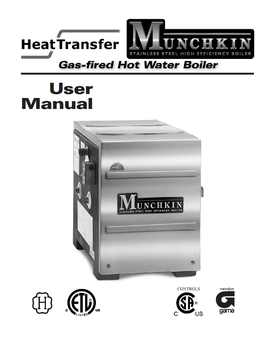 Munchkin Gas-Fired Hot Water Boiler User Manual | 12 pages