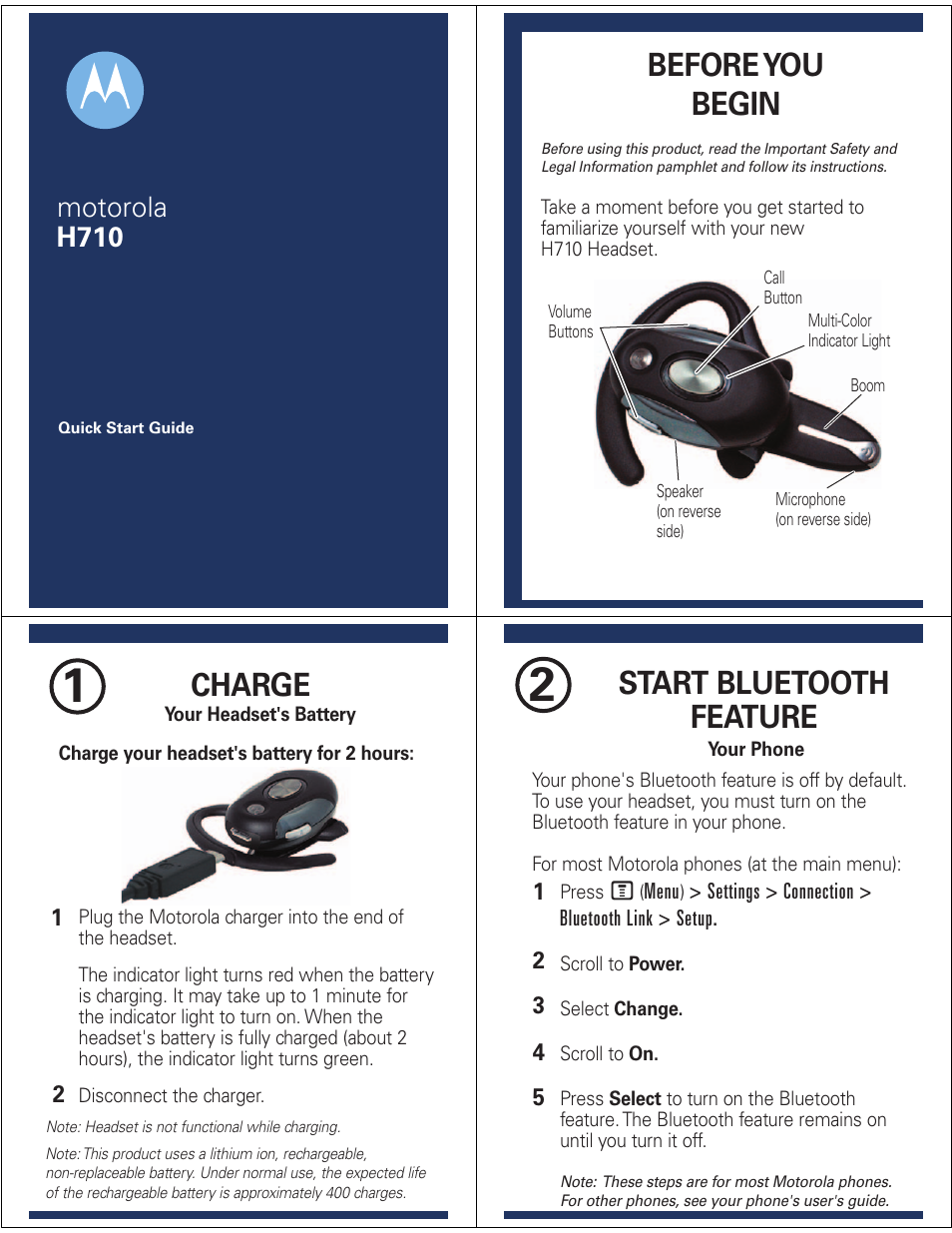 motorola h710 user manual 6 pages rh manualsdir com motorola h710 bluetooth manual motorola h710 bluetooth manual
