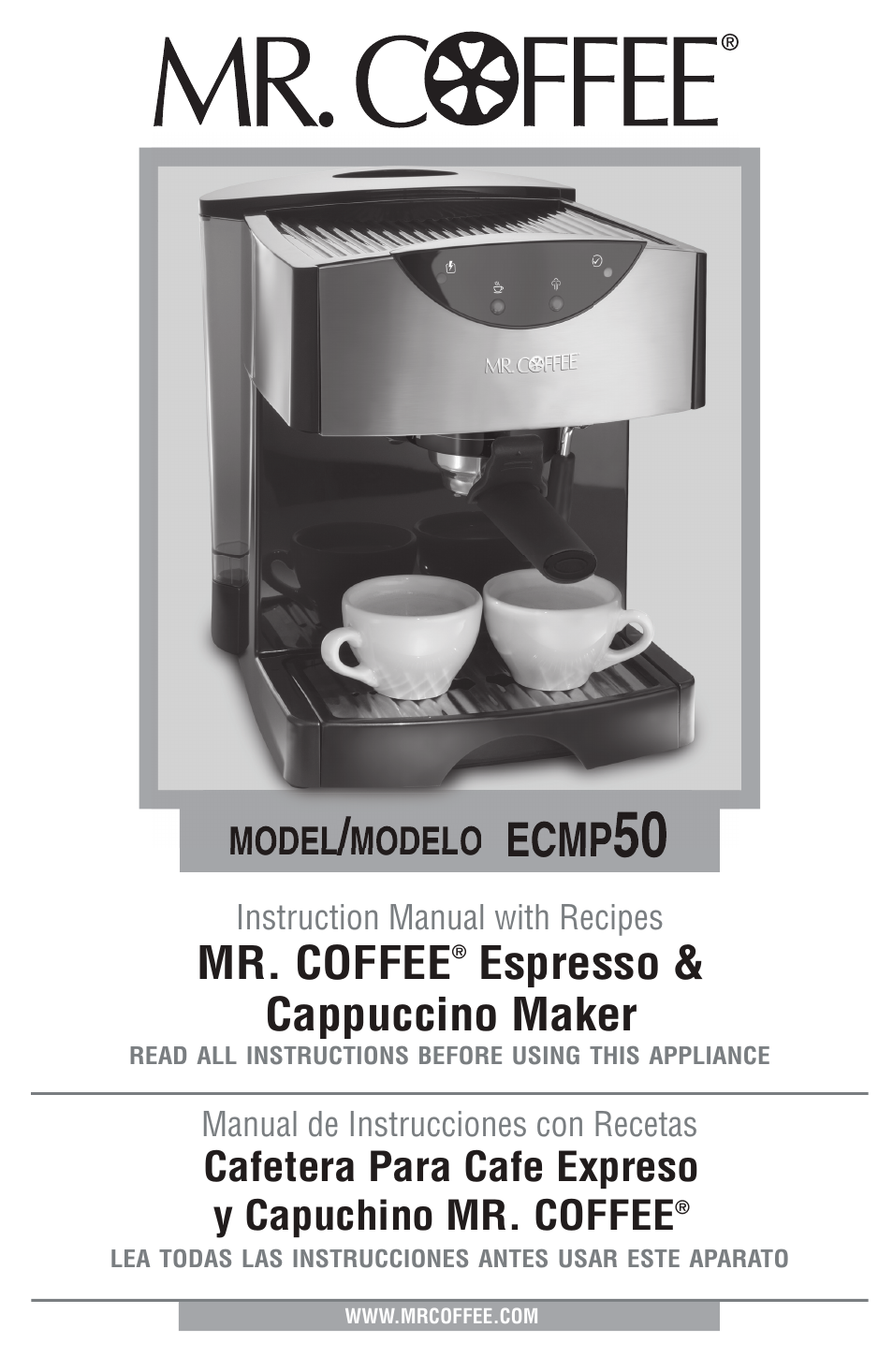 Mr Coffee Ecmp50 User Manual 26 Pages