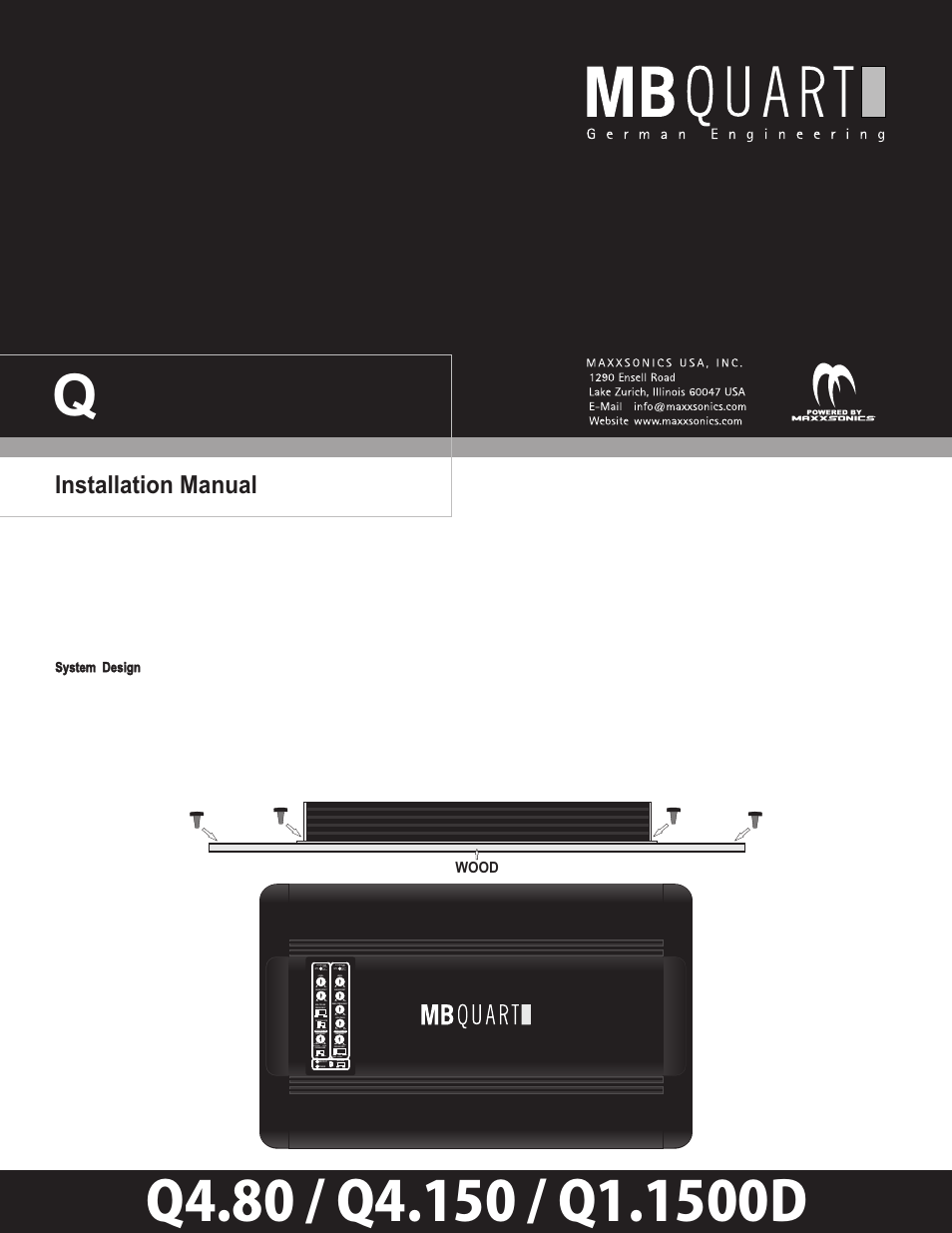mb quart q11500d user manual 13 pages also for q4150 q480