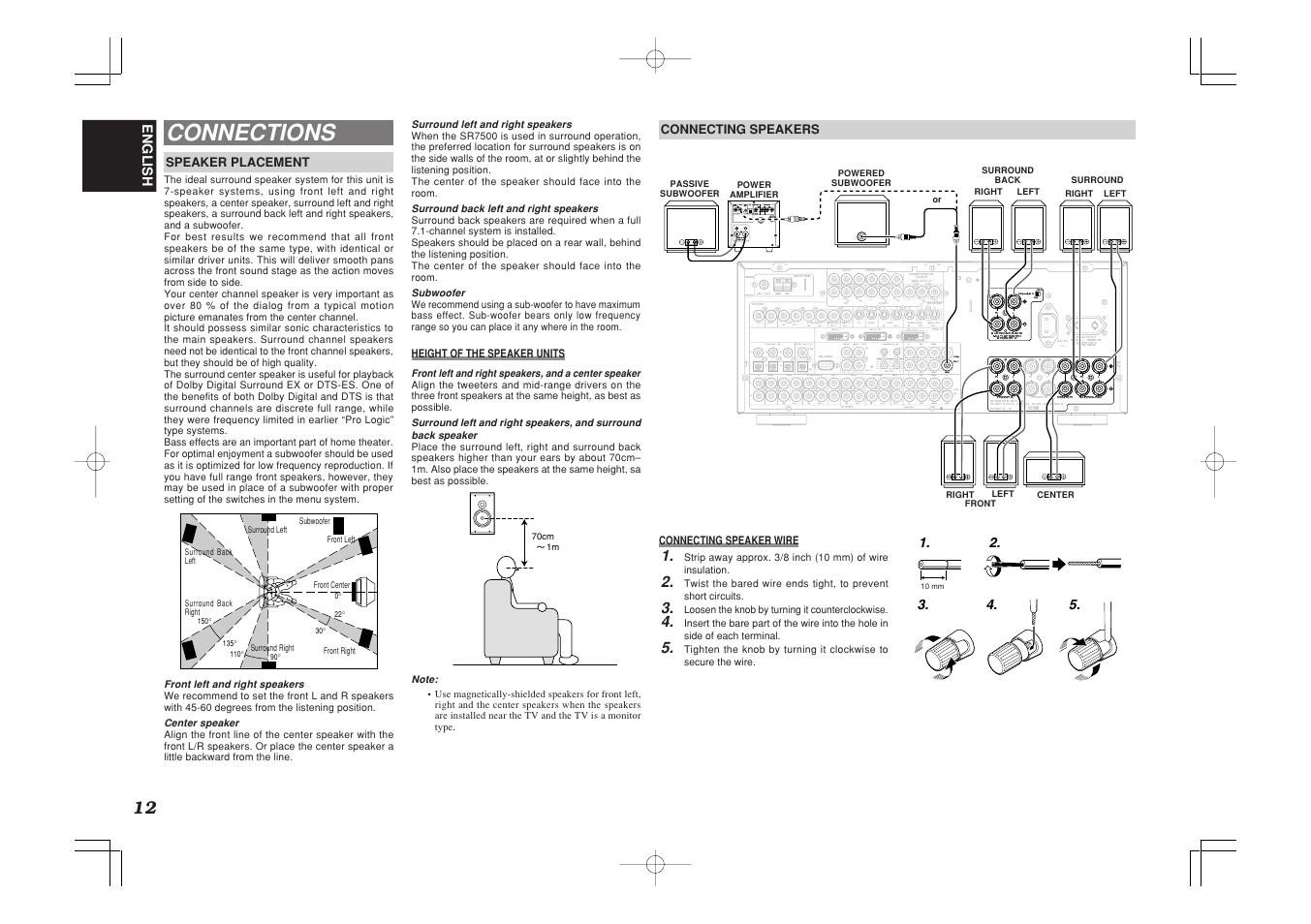 connections marantz sr7500 user manual page 16 58 original mode rh manualsdir com Marantz 7500 Manual eBay Marantz SR7500